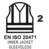 EN ISO 20471 Cl. 2 Inner Jacket Sleeveless