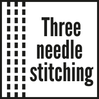 THREE-NEEDLE STITCHING