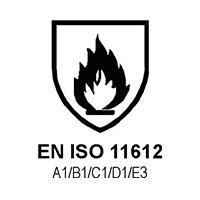 EN ISO 11612  A1/B1/C1/D1/E3 (RISCHIO CALORE)
