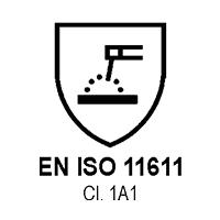 EN ISO 11611 Cl. 1A1   (SCHIZZI  DI SALDATURE)
