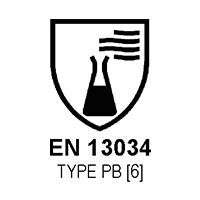 EN 13034 TYPE PB [6]  (RISCHIO CHIMICO)
