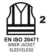 EN ISO 20471 Cl. 2 Inner Jacket Sleeveless